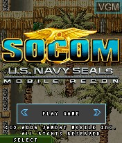 Title screen of the game SOCOM - U.S. Navy Seals Mobile Recon on Mobile phone