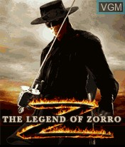 Title screen of the game Legend of Zorro, The on Mobile phone