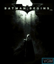 Title screen of the game Batman Begins on Mobile phone
