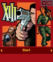 Title screen of the game XIII on Mobile phone