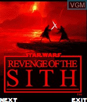 Title screen of the game Star Wars - Revenge of The Sith on Mobile phone