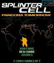 Title screen of the game Splinter Cell - Pandora Tomorrow on Mobile phone