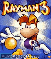 Title screen of the game Rayman 3 on Mobile phone