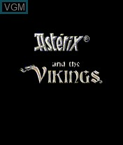 Title screen of the game Asterix and The Vikings on Mobile phone