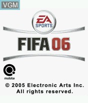 Title screen of the game FIFA 06 on Mobile phone