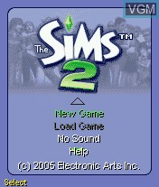 Title screen of the game Sims 2, The on Mobile phone