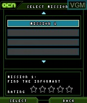 Menu screen of the game SOCOM - U.S. Navy Seals Mobile Recon on Mobile phone