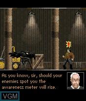 Menu screen of the game Batman Begins on Mobile phone