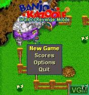 Menu screen of the game Banjo-Kazooie - Grunty's Revenge Mobile on Mobile phone