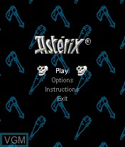 Menu screen of the game Asterix and The Vikings on Mobile phone