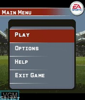 Menu screen of the game FIFA 06 on Mobile phone