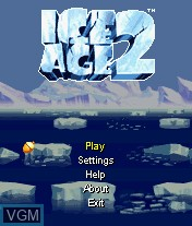 Menu screen of the game Ice Age 2 - Arctic Slide on Mobile phone