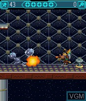 In-game screen of the game Ratchet & Clank - Going Mobile! on Mobile phone