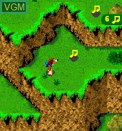 In-game screen of the game Banjo-Kazooie - Grunty's Revenge Mobile on Mobile phone