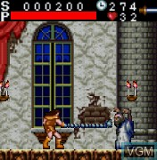 In-game screen of the game Castlevania on Mobile phone