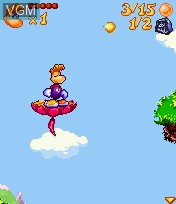 In-game screen of the game Rayman 3 on Mobile phone