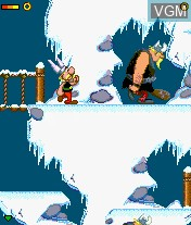 In-game screen of the game Asterix and The Vikings on Mobile phone