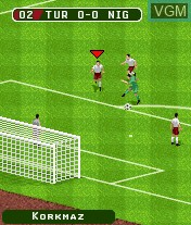 In-game screen of the game FIFA 06 on Mobile phone