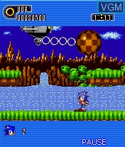 In-game screen of the game Sonic the Hedgehog Part 1 on Mobile phone