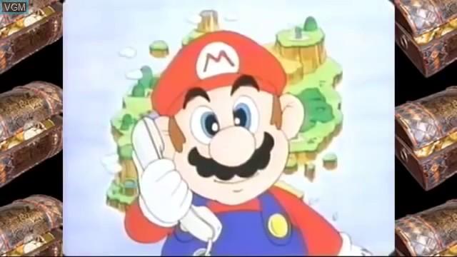 Menu screen of the game Mario & Yoshi's Adventure Land on Bandai Terebikko