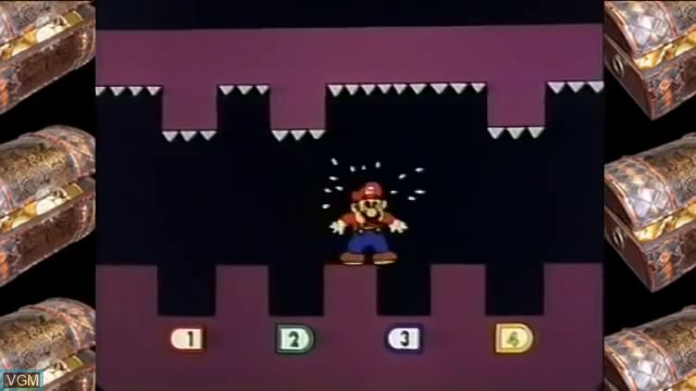 In-game screen of the game Mario & Yoshi's Adventure Land on Bandai Terebikko