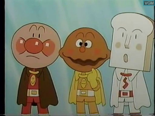 In-game screen of the game Anpanman OAV 1 on Bandai Terebikko