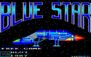 Title screen of the game Blue Star on Thomson MO6