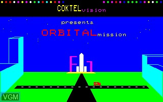 Title screen of the game Orbital Mission on Thomson MO6