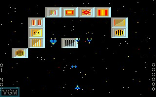 In-game screen of the game Blue Star on Thomson MO6