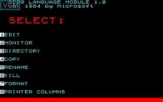 Title screen of the game 6809 Language Module on Thomson TO7