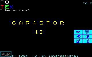 Title screen of the game Caractor 2 on Thomson TO7