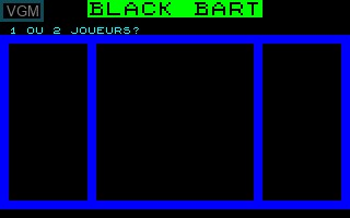 Title screen of the game Black Bart on Thomson TO7