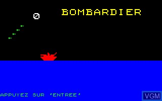 Title screen of the game Bombardier on Thomson TO7