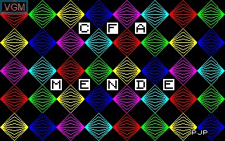 Title screen of the game CFA Mende on Thomson TO7