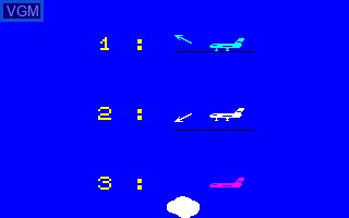 Menu screen of the game Airbus on Thomson TO7