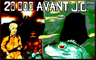 Title screen of the game 20000 avant JC on Thomson TO8