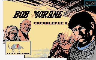 Title screen of the game Bob Morane - Chevalerie 1 on Thomson TO8