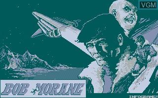 Title screen of the game Bob Morane SF on Thomson TO8
