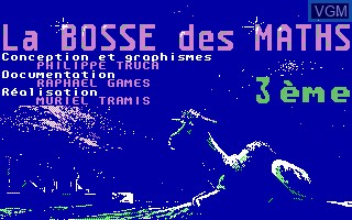 Title screen of the game Bosse des Maths, La - 3eme on Thomson TO8