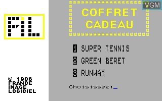 Title screen of the game Compilation - Coffret Cadeau on Thomson TO8