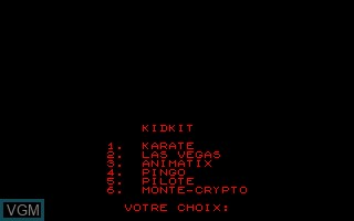 Title screen of the game Compilation - Kidkit on Thomson TO8