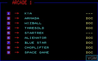 Title screen of the game Compilation Disk - Arcade on Thomson TO8