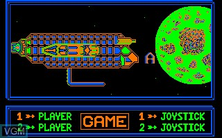 Menu screen of the game Alienator on Thomson TO8