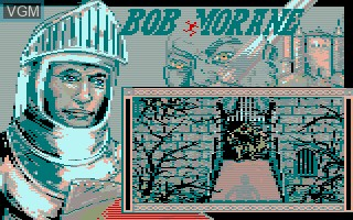 Menu screen of the game Bob Morane - Chevalerie 1 on Thomson TO8