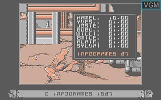 Menu screen of the game Bob Morane SF on Thomson TO8