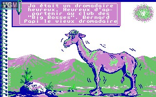 Menu screen of the game Bosse des Maths, La - 3eme on Thomson TO8