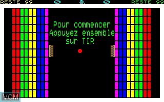 Menu screen of the game Compilation - Raquette on Thomson TO8