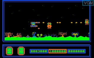 In-game screen of the game Alienator on Thomson TO8