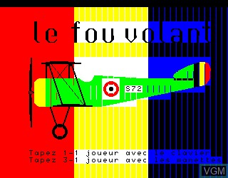 Title screen of the game Fou Volant, Le on Philips VG5000