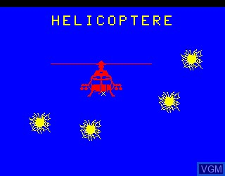 Title screen of the game Helicoptere on Philips VG5000